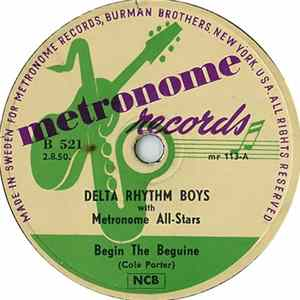 Delta Rhythm Boys With Metronome All-Stars - Begin The Beguine / On The Sunny Side Of The Street FLAC