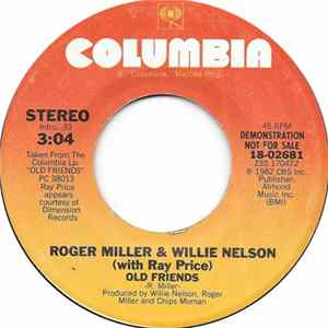 Roger Miller & Willie Nelson With Ray Price - Old Friends FLAC